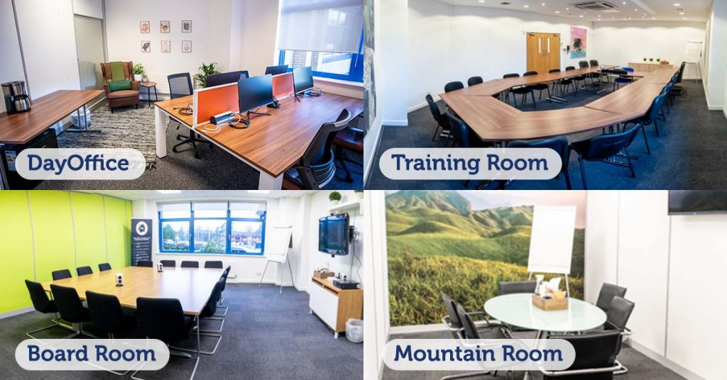 Examples of our meeting rooms in Caerphilly